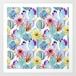 Cactus Pattern 11 Art Print