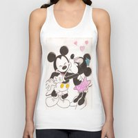 minnie Tank Tops featuring Mickey & Minnie by karl oconnor