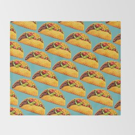 Taco Pattern Throw Blanket