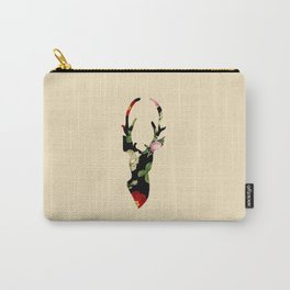 Flower Deer Silhouette Carry-All Pouch