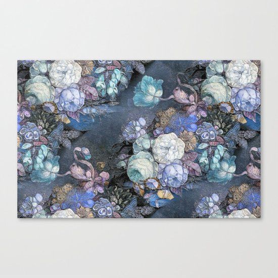 Vintage Blue Jeans Bouquet Canvas Print