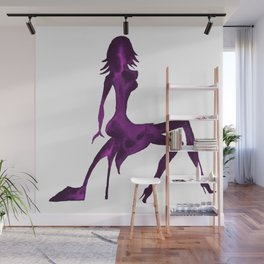 DIVA ON shoe - PAINTED - Gorgeous VIOLET Wall Mural