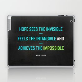 Hope - Helen Keller Laptop & iPad Skin