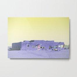 Moroccan Dar in Purple Metal Print