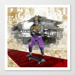 Wrestling Pop Art - King Tonga Canvas Print
