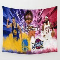 basketball Wall Tapestries featuring Basketball  by RickART
