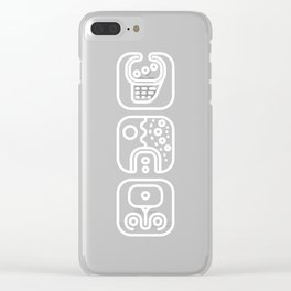 Mayan Glyphs ~ ABSTRACT Clear iPhone Case