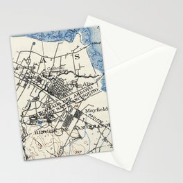 Vintage Map of Palo Alto California (1899) Stationery Cards