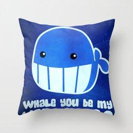 Whally Love Throw Pillow