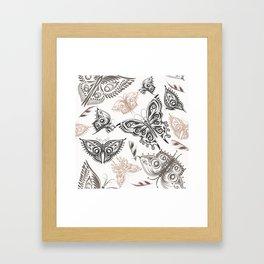 Butterfly design classic elegant graphic design Framed Art Print