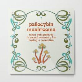 Sacred Mushroom Medicine Metal Print