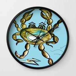 Dancing Crab Wall Clock