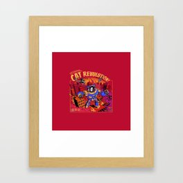 Cat Revolution Framed Art Print