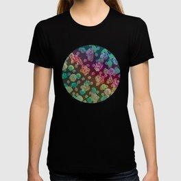spectrum rainbow roses T-shirt