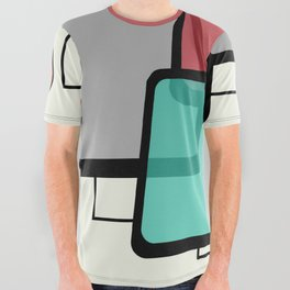 Mid-Century Modern Art Landscape 1.1 All Over Graphic Tee