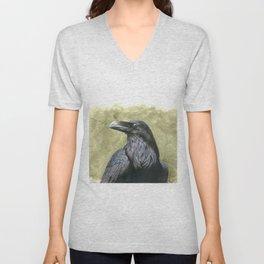 Proud Raven - Watercolor Unisex V-Neck