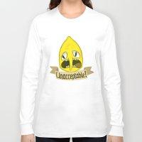 lemongrab Long Sleeve T-shirts featuring Lemongrab Unacceptable by Kam-Fox