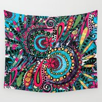 paisley Wall Tapestries featuring Paisley by Lara Gurney