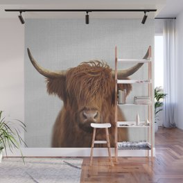 Highland Cow - Colorful Wall Mural