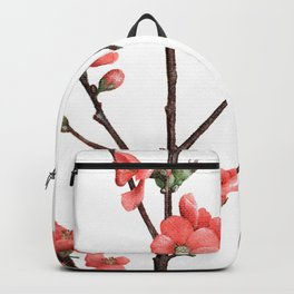 Flowering Quince Painting Backpack