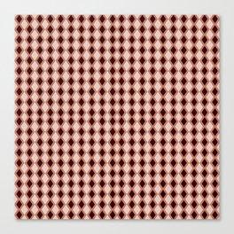 Diamonds maroon vermilion pink Canvas Print
