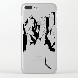 Oh mighty mountains! Clear iPhone Case