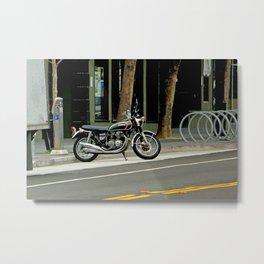 'Cycle Parking, Mo' Cycle Parking Metal Print