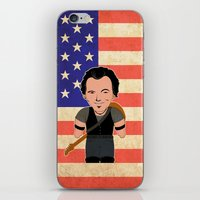 "springsteen iPhone & iPod Skins featuring The Boss by Michele ""Sonik"" Bruseghin"