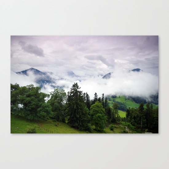 mountain view i. Canvas Print