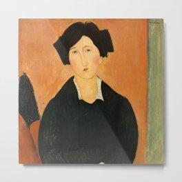 """Amedeo Modigliani """"The Italian Woman"""" Metal Print"""