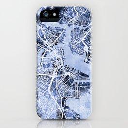 Boston Massachusetts Street Map iPhone Case