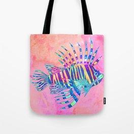 Electric Lionfish Tote Bag