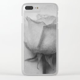 Single Rose Clear iPhone Case