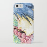 sasuke iPhone & iPod Cases featuring Sasuke Watercolor by Vouschtein