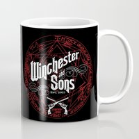 winchester Mugs featuring Winchester & Sons by Manny Peters Art & Design