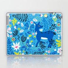 Deer and Butterflies (Sky Blue) Laptop & iPad Skin