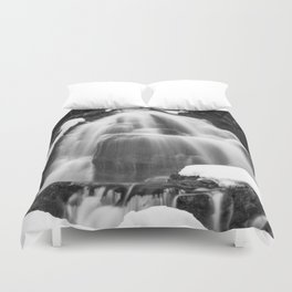 Winter Arch Waterfall Duvet Cover