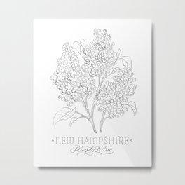 New Hampshire Sketch Metal Print