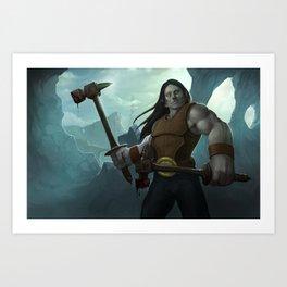 Hammer Fighter Art Print