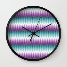 Ombre Chevrons - Plum and Teal Wall Clock
