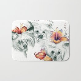 Chinese Roses Bath Mat