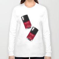 nail polish Long Sleeve T-shirts featuring Nail Polish Rouge Rubis by BeckiBoos