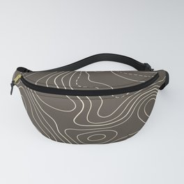Topo Map in Brown Fanny Pack