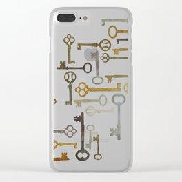Vintage Keys Clear iPhone Case
