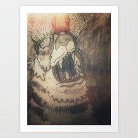Tiger Boom Art Print