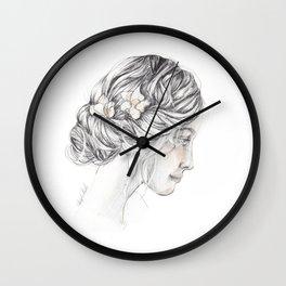 romantic girl Wall Clock