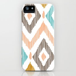 Sketchy Diamond IKAT iPhone Case