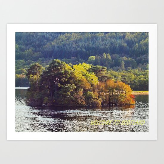 Welcome To Scotland Art Print