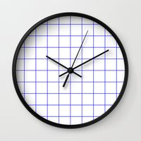 grid Wall Clocks featuring GRID by G-VNCT