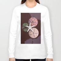 seashell Long Sleeve T-shirts featuring seashell 6 by gzm_guvenc